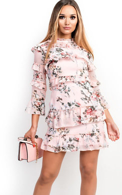 View the Eva Floral Frilled Dress online at iKrush