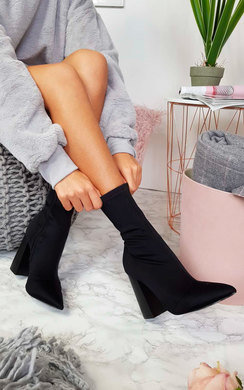 View the Everly Lycra Heeled Ankle Boots online at iKrush