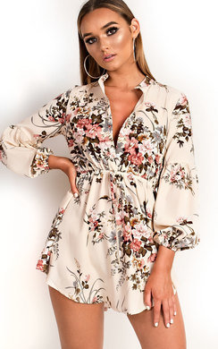 View the Evie Floral Shirt Dress online at iKrush