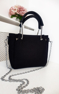 View the Fabia Mini Textured Chain Handbag online at iKrush