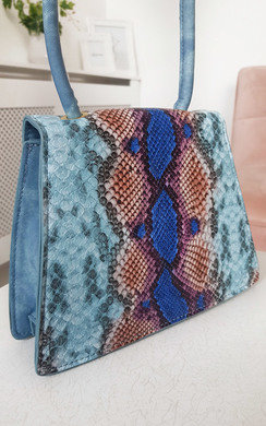 View the Faith Croc Print Shoulder Handbag online at iKrush