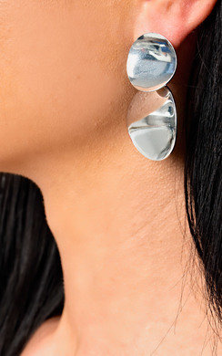 View the Farah Long Circle Earrings  online at iKrush