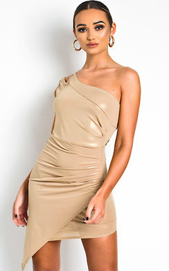 View the Felina One Shoulder Shimmer Mini Dress online at iKrush