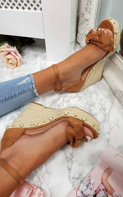 View the Fifi Braided Bow Wedged Heel online at iKrush