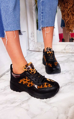 View the Fifi Chunky Arched Leopard Sport Trainer online at iKrush