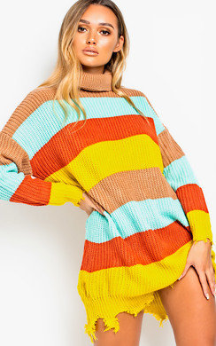 View the Fifi Oversized Striped Jumper  online at iKrush
