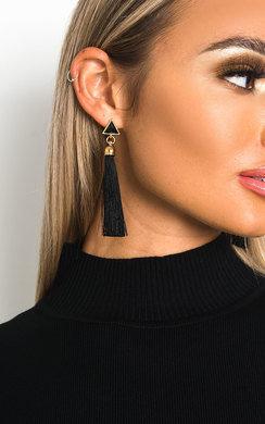 IKRUSH Womens Rita Tassel Earrings   ORANGE UK 1SZE