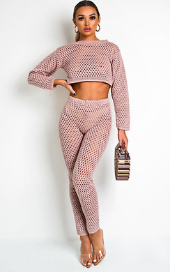 View the Flora Crochet Lounge Cropped Co-ord online at iKrush
