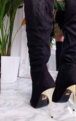 View the Flora Thigh High Peep Toe Boots  online at iKrush