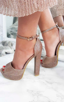 View the Florence Glitter Block Heels online at iKrush