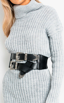 View the Flossie Western Double Buckle Belt online at iKrush