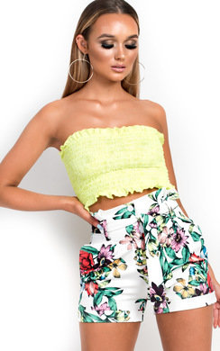 View the Fran High Waisted Floral Shorts  online at iKrush