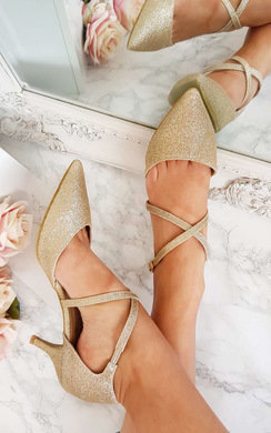 View the Francesca Double Ankle Strap Kitten Heels online at iKrush