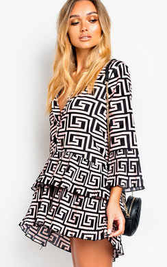 View the Francesca Pleated Flare Shift Dress online at iKrush