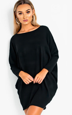 View the Frankie Diamante Back Long Sleeved Jumper Dress online at iKrush