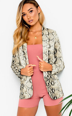 View the Frankie Snake Long-Lined Blazer Jacket online at iKrush