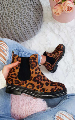 View the Franny Diamante Studded Ankle Boots online at iKrush