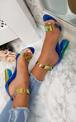 bec249ed41de View the Freja Iridescent Barely There Block Heels online at iKrush
