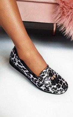 View the Freya Tasseled Leopard Print Pumps online at iKrush