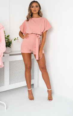 View the Freya Tie Waist Playsuit online at iKrush