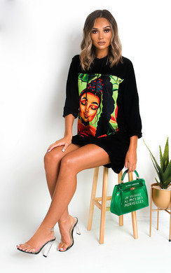 View the Frida Graphic Hooded Jumper Dress online at iKrush