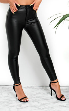 View the Frida Skinny Mid Rise Coated Jeans online at iKrush