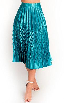 View the Gabbana Metallic Pleated Midi Skirt online at iKrush
