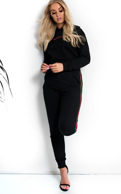 View the Georgia Stripe Hooded Crop Tracksuit online at iKrush
