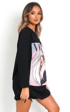 View the Gerri Graphic Jumper Dress online at iKrush