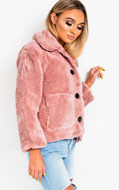 View the Gina Teddy Bear Button Up Jacket online at iKrush