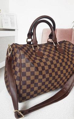 View the Glenn Check Pattern Tote Handbag online at iKrush