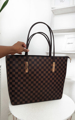 View the Grace Checked Two in One Handbag online at iKrush