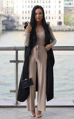 View the Haley Off Shoulder Wide Leg Jumpsuit online at iKrush