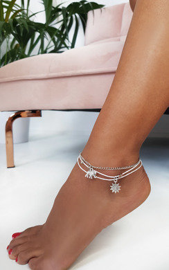 View the Hannah Charm Chain Anklet online at iKrush