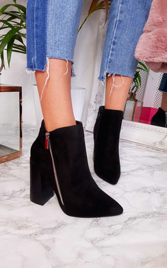 View the Hannah Faux Suede Pointed Boots online at iKrush