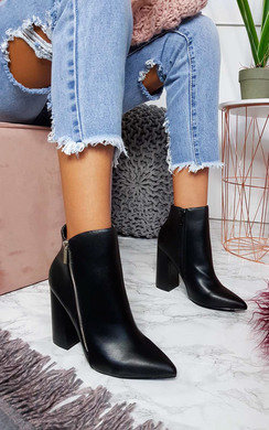 View the Hannah Faux Leather Pointed Boots online at iKrush