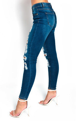 View the Hanni Distressed Detail Jeans online at iKrush