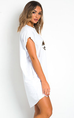 View the Hanny Oversized T-Shirt Dress online at iKrush