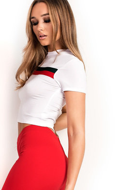 View the Harlow Stripe Crop Top online at iKrush