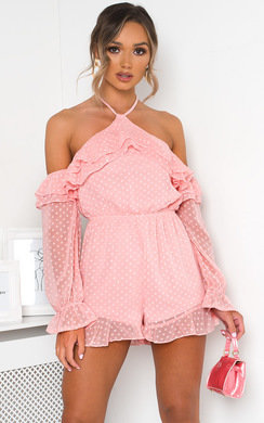 View the Harper Off Shoulder Frill Playsuit online at iKrush