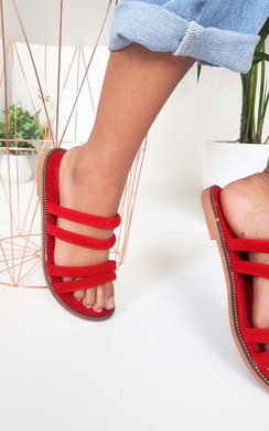 View the Harper Strappy Faux Suede Sandals online at iKrush