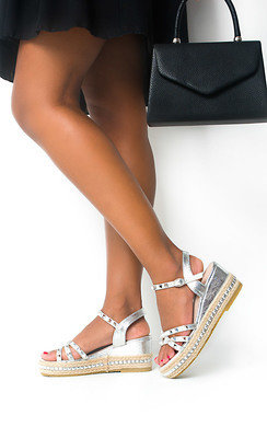 View the Harri Studded Wedged Sandals online at iKrush