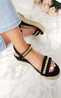 View the Harriet  Studded Strap Wedge Sandals online at iKrush
