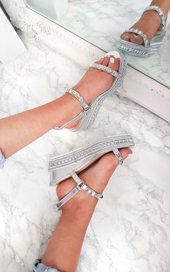 View the Harri  Studded Strap Wedges online at iKrush