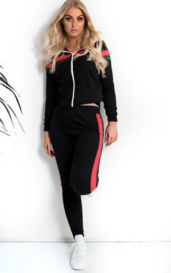 View the Hazel Stripe Zipped Tracksuit online at iKrush
