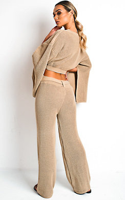 View the Heath Knitted Slit Sleeve Co-ord  online at iKrush
