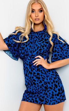 View the Heather Animal Print Shift Dress online at iKrush