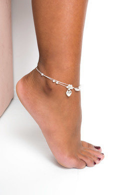 View the Heather Heart Charm Anklet online at iKrush