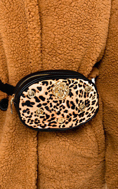 View the Heidi Lion Head Leopard Belt Bag online at iKrush