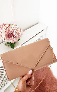 View the Heidi Patent Envelope Clutch Bag online at iKrush